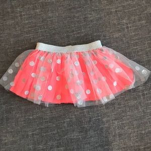 12 Months Girl's skirt with shorts
